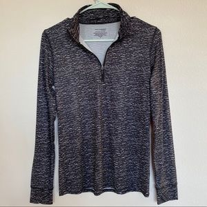 Cuddl duds zip up pullover long sleeve top small